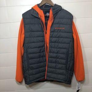 NWT Denver Broncos Vest & Jacket Set